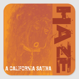 HAZE CALIFORNIA SATIVA SQUARE STICKER