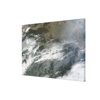 Haze over China Canvas Print
