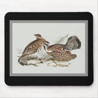 Hazel grouse mouse pad