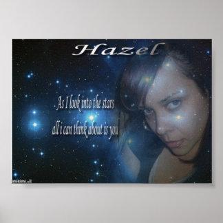 hazel love poster