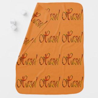 Hazel, Name, Logo, Baby Girls Amber Fleece Blanket Swaddle Blankets