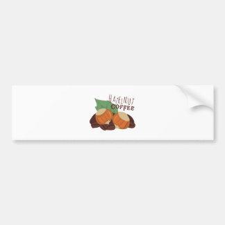 Hazelnut Coffee Bumper Sticker