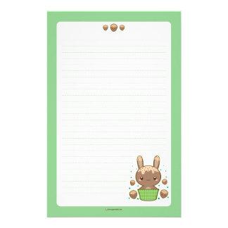 Hazelnut Truffle Bunny Customized Stationery