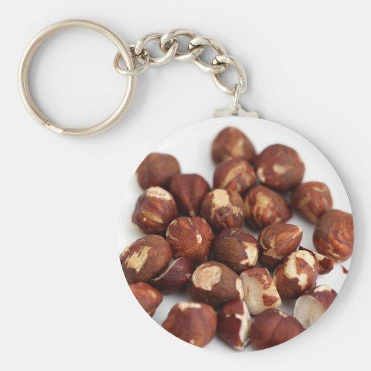 Hazelnuts Basic Round Button Key Ring