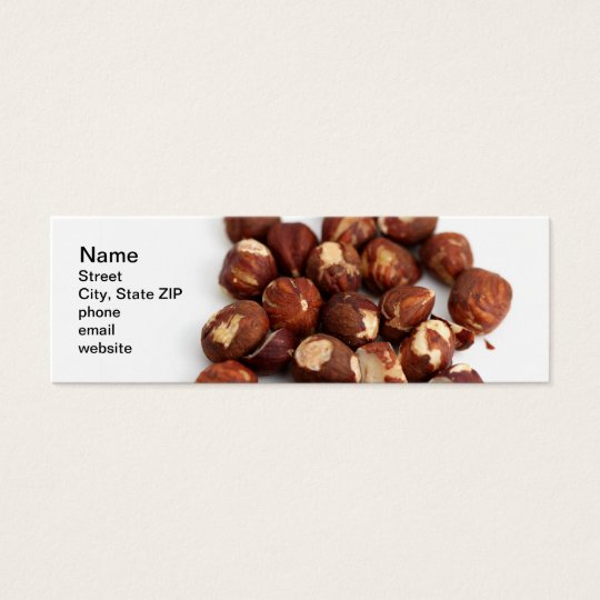Hazelnuts Mini Business Card