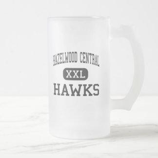 Hazelwood Central - Hawks - High - Florissant Frosted Glass Mug