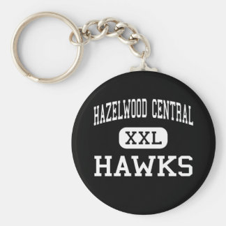 Hazelwood Central - Hawks - High - Florissant Basic Round Button Key Ring