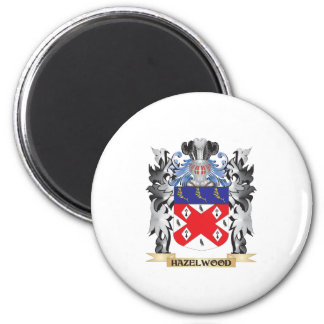 Hazelwood Coat of Arms - Family Crest 6 Cm Round Magnet