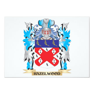 """Hazelwood Coat of Arms - Family Crest 5"""" X 7"""" Invitation Card"""
