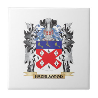 Hazelwood Coat of Arms - Family Crest Small Square Tile