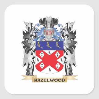 Hazelwood Coat of Arms - Family Crest Square Sticker