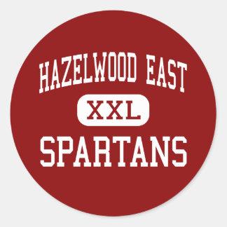 Hazelwood East - Spartans - High - Florissant Round Sticker