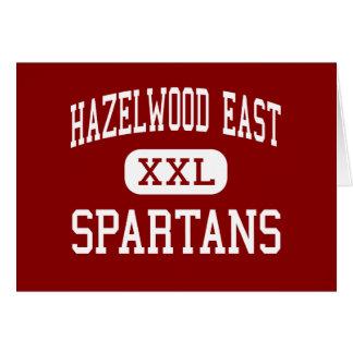 Hazelwood East - Spartans - High - Saint Louis Greeting Card