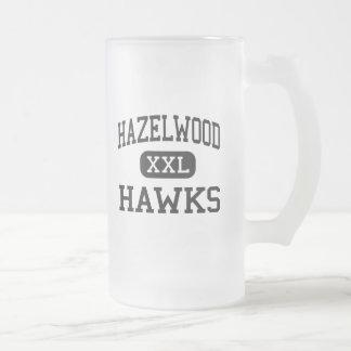 Hazelwood - Hawks - Junior - Florissant Missouri Frosted Glass Mug