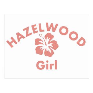 Hazelwood Pink Girl Postcard