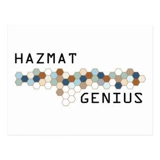 Hazmat Genius Postcard