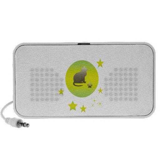 Hazy cat night travelling speakers