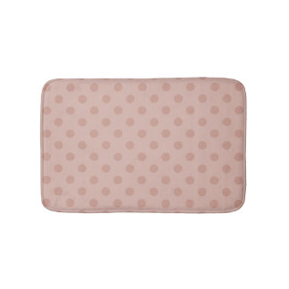 Hazy taupe/Rose gold polka dots bathroom rug