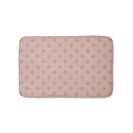 Hazy taupe/Rose gold polka dots bathroom rug