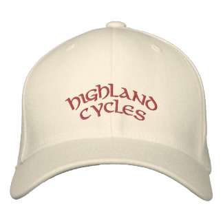 HC embroidered hat in white