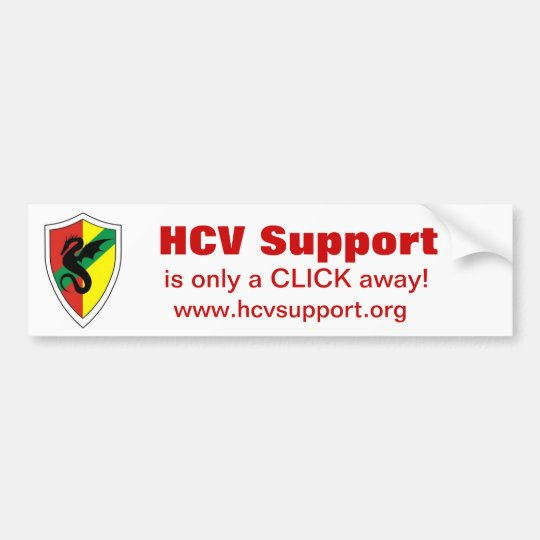 HCV Support, is only a CLICK away! Bumper Sticker