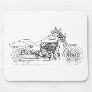 HD CVO Dyna Fat Bob 2009 Mouse Pad