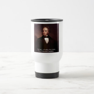 """HD Longfellow """"Soul Is Audible"""" Wisdom Quote Gifts Stainless Steel Travel Mug"""