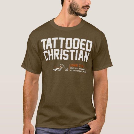 "HD ""Tattooed Christian"" Brown T-Shirt - Mens"