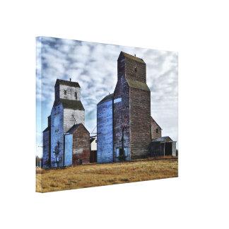 HDR Autumn Prairie Sentinels Stretch Canvas Print