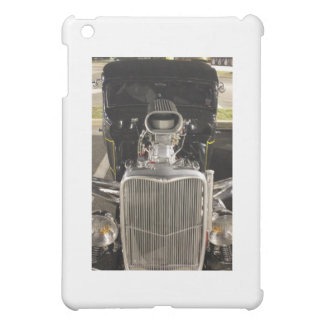 HDR Black Hot Rod Classic Vintage Big Engine Car iPad Mini Case