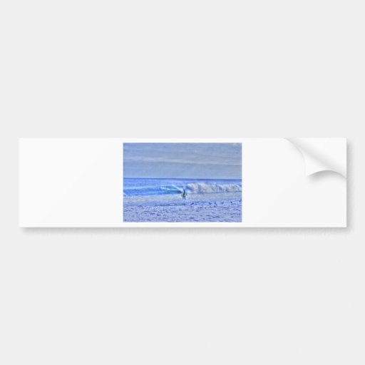 HDR BodyBoard Surfer Checking Out Ocean Waves Bumper Sticker