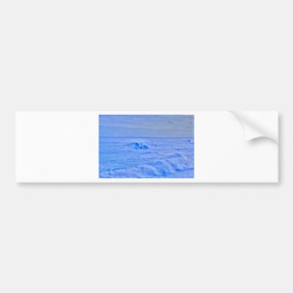 HDR Bright Ocean Waves Surfer Car Bumper Sticker