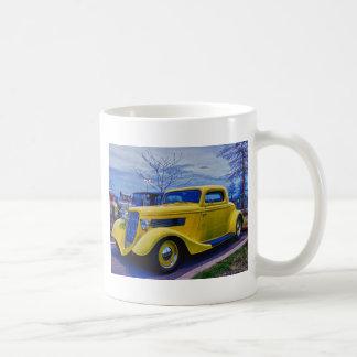 HDR Classic Hot Rod Yellow Coffee Mugs