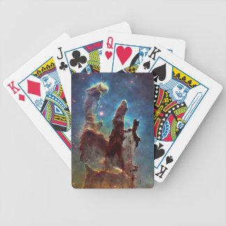 HDR Eagle Nebula Pillars of Creation Bicycle Playing Cards