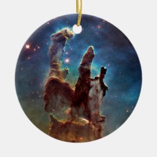 HDR Eagle Nebula Pillars of Creation Christmas Ornament