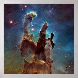 HDR Eagle Nebula Pillars of Creation Poster