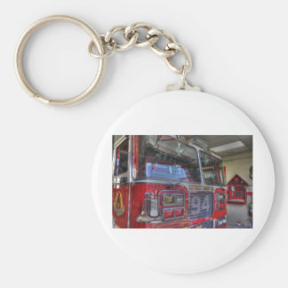HDR Fire Truck Basic Round Button Key Ring