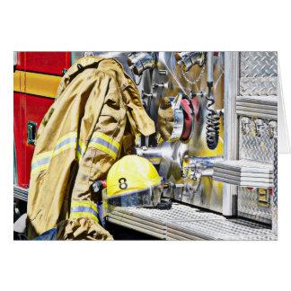 HDR Fireman Gear and Fire Truck Card