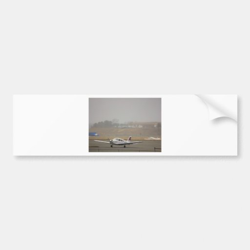 HDR Plane Foggy Background Bumper Stickers
