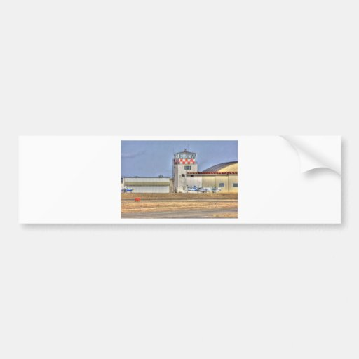 HDR Planes Distance Under Control Tower Bumper Stickers