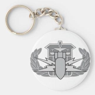 HDS badge Basic Round Button Key Ring