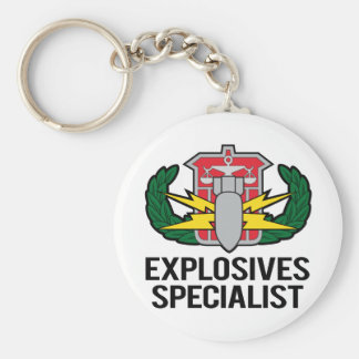 HDS Explosives Specialist Basic Round Button Key Ring