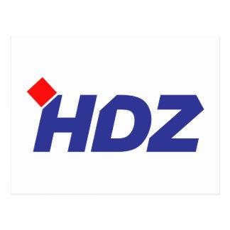 HDZ Hrvatska Demokratska Zajednica Post Card