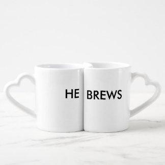 He Brews Coffee Mug Set