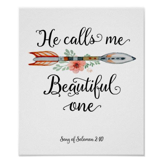He Calls Me Beautiful One Art Print