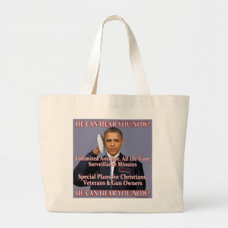 He Can Hear You Now! Canvas Bags