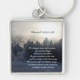 He changes times and seasons, Daniel 2:21 Bible Key Ring