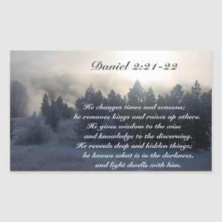 He changes times and seasons, Daniel 2:21 Bible Rectangular Sticker