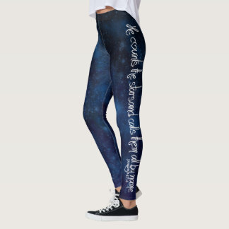 """He counts the stars..."" leggings"