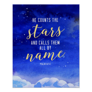 He Counts the Stars Wall Art